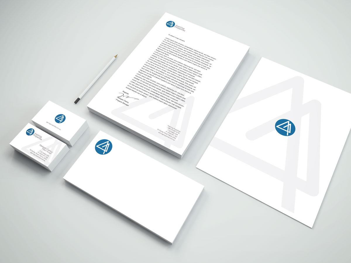 Aspiring Properties Branding Stationery Design